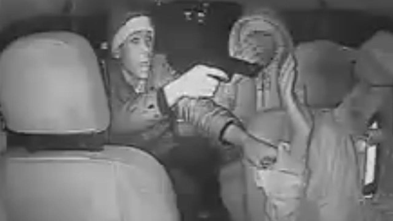 Scary Footage Of Two Armed Bad Guys Robbing Taxi Driver