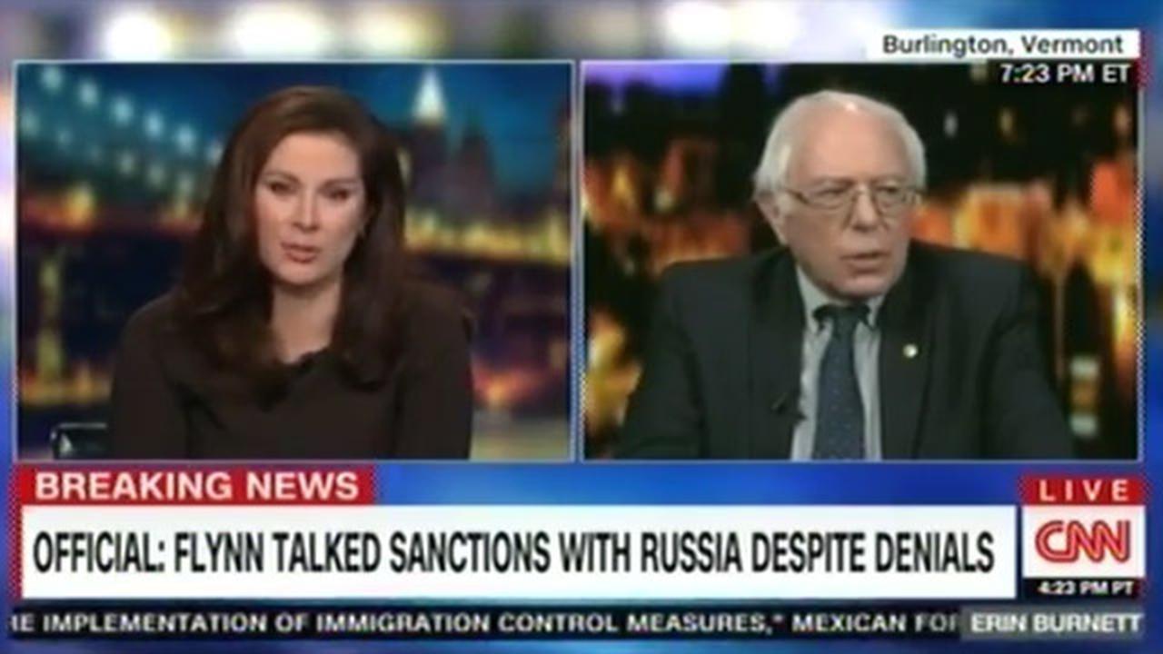 """Awkward! Interview Cut Short After Bernie Sanders Calls CNN """"Fake News"""""""