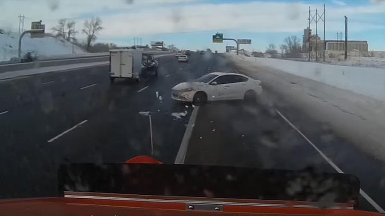 This Is Why It's A Dumb Idea To Try To Pass A Snowplow