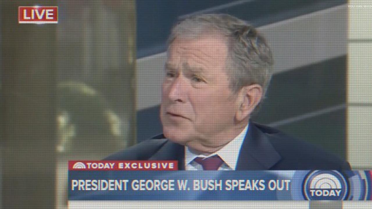 George Bush Guts Matt Lauer