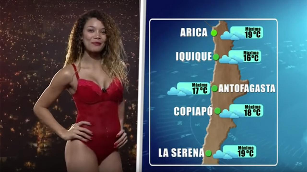 Sizzling Weather Girl In Chile Wears Swimsuit During Live Weather Report