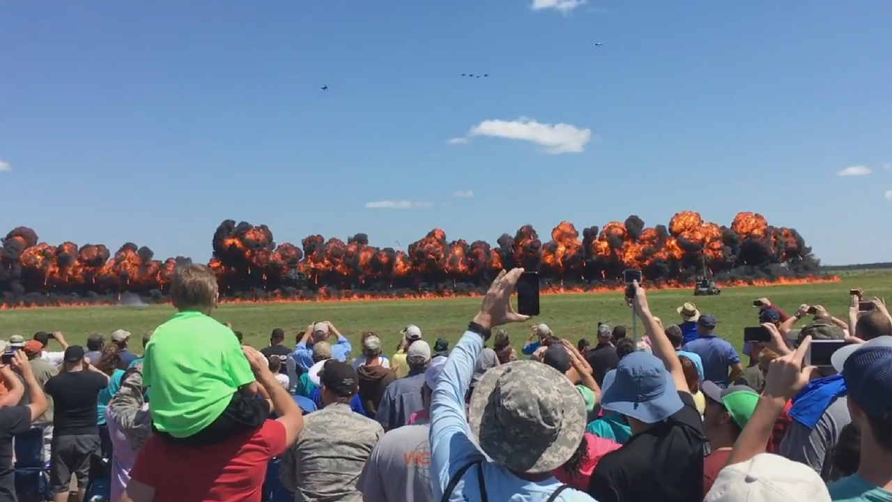 Does Your Local Airshow Explode Stuff?