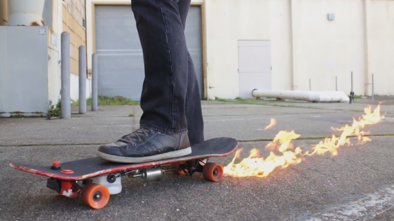 Yeah, But Does Your Skateboard Dribble Fire??