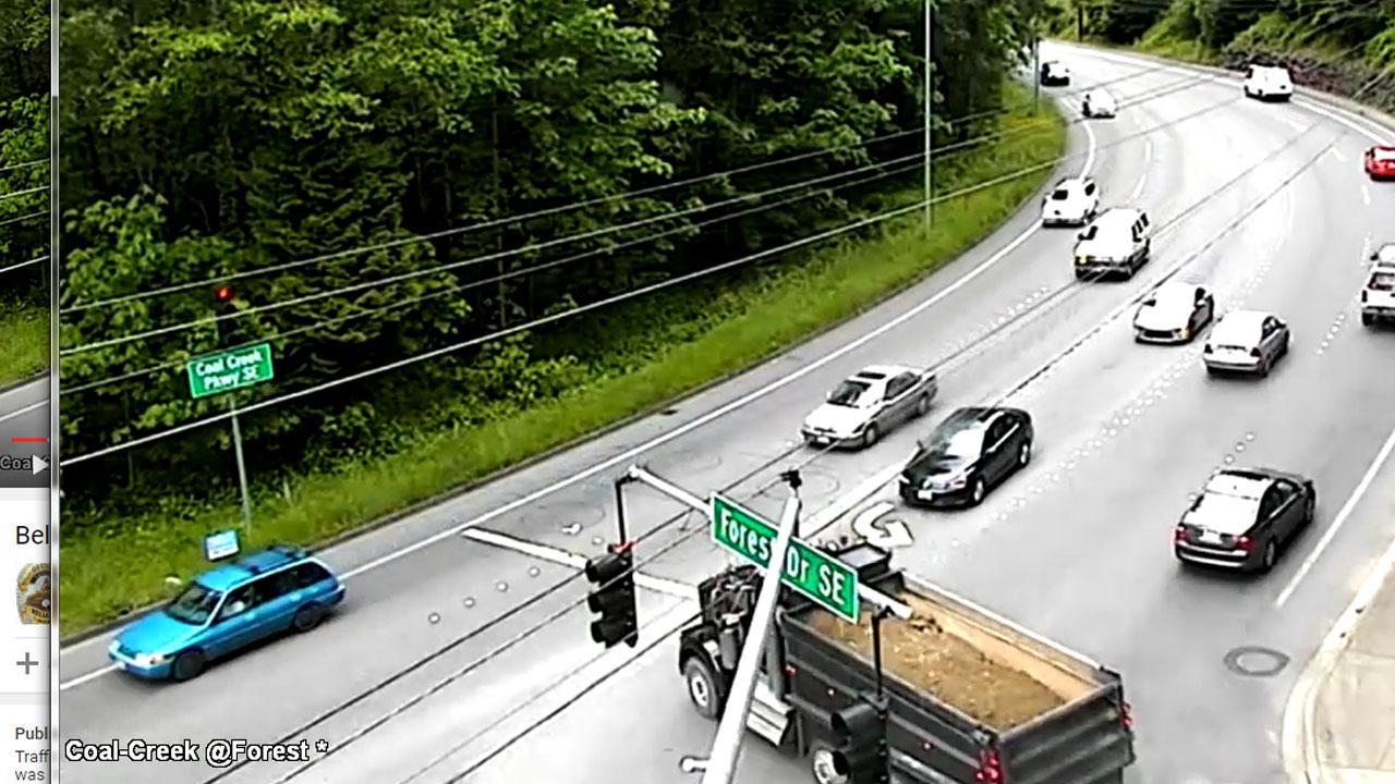 Stunning Moment Out Of Control Dump Truck T-Bones Unlucky Driver
