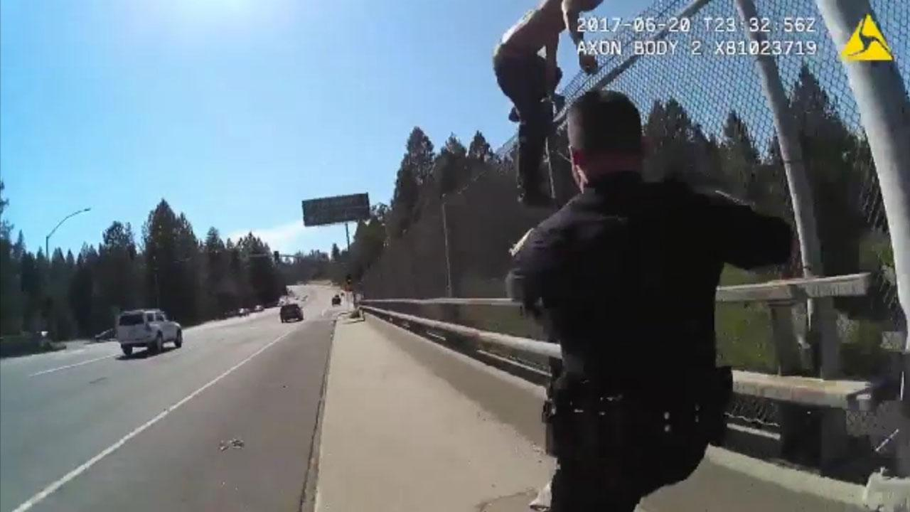 Harrowing Scene Where Police Officers Stop Suicidal Man From Jumping Off Bridge