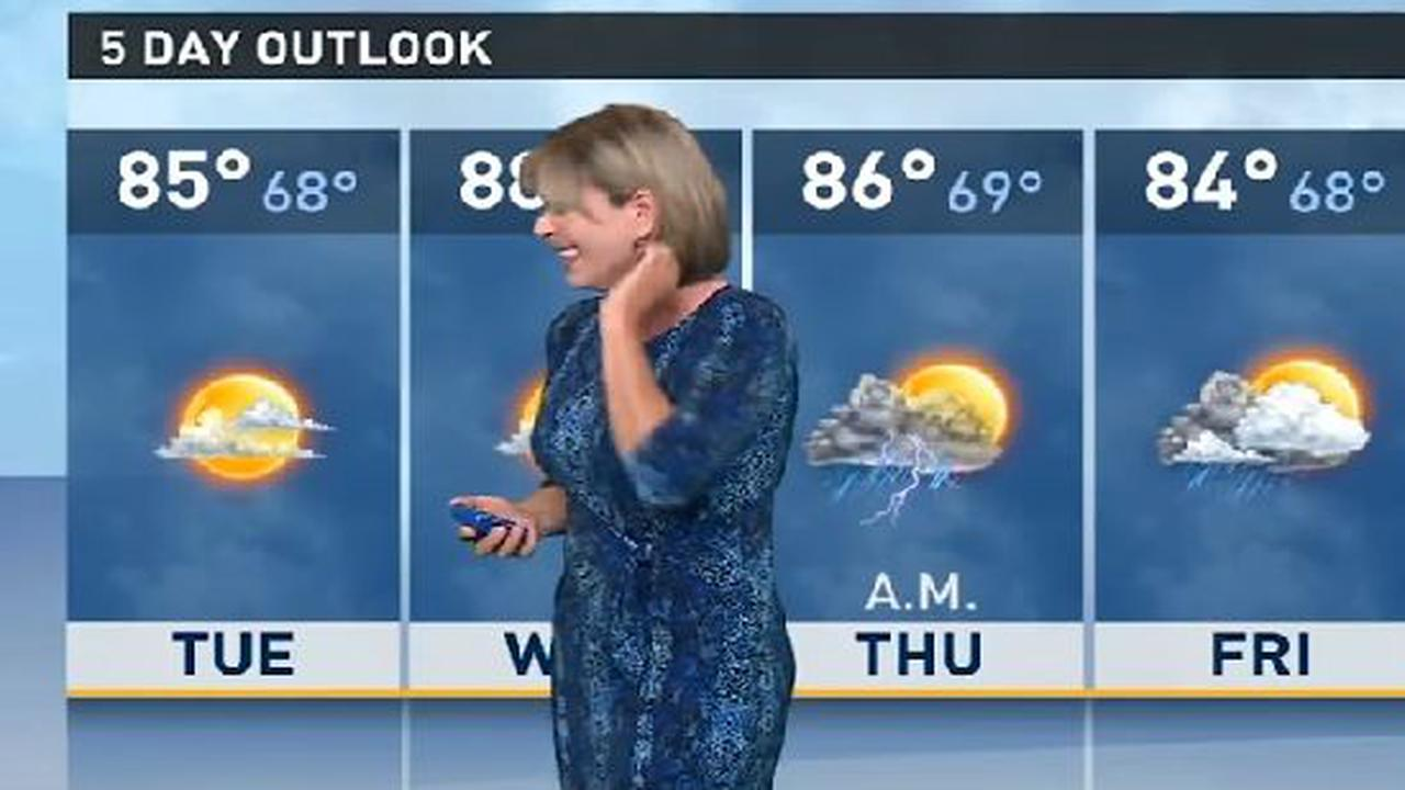 The weather lady does it herself