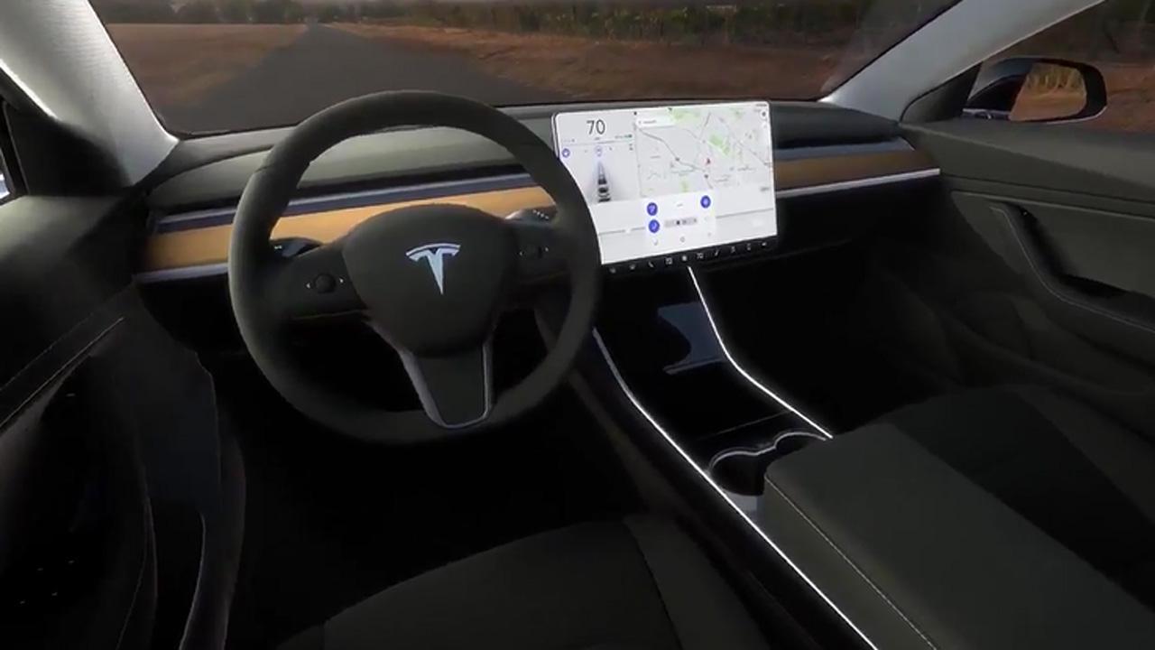 The Tesla Model 3 Has A Super Cool Interior.