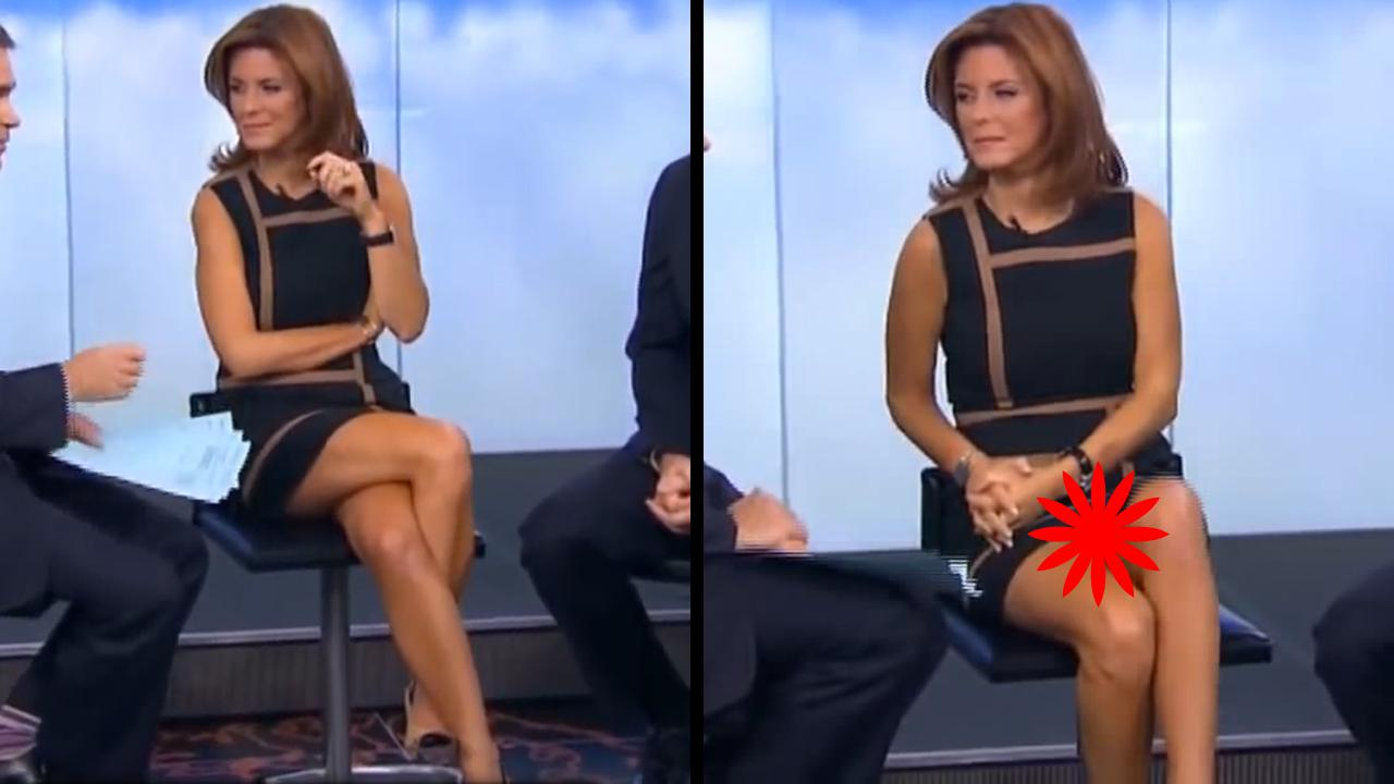 Nice! News Lady Accidentally Flashes The World When Crossing Her Legs
