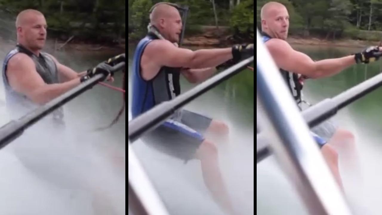 Bro Enjoying Water Sports Almost Ends Up Hanging Himself