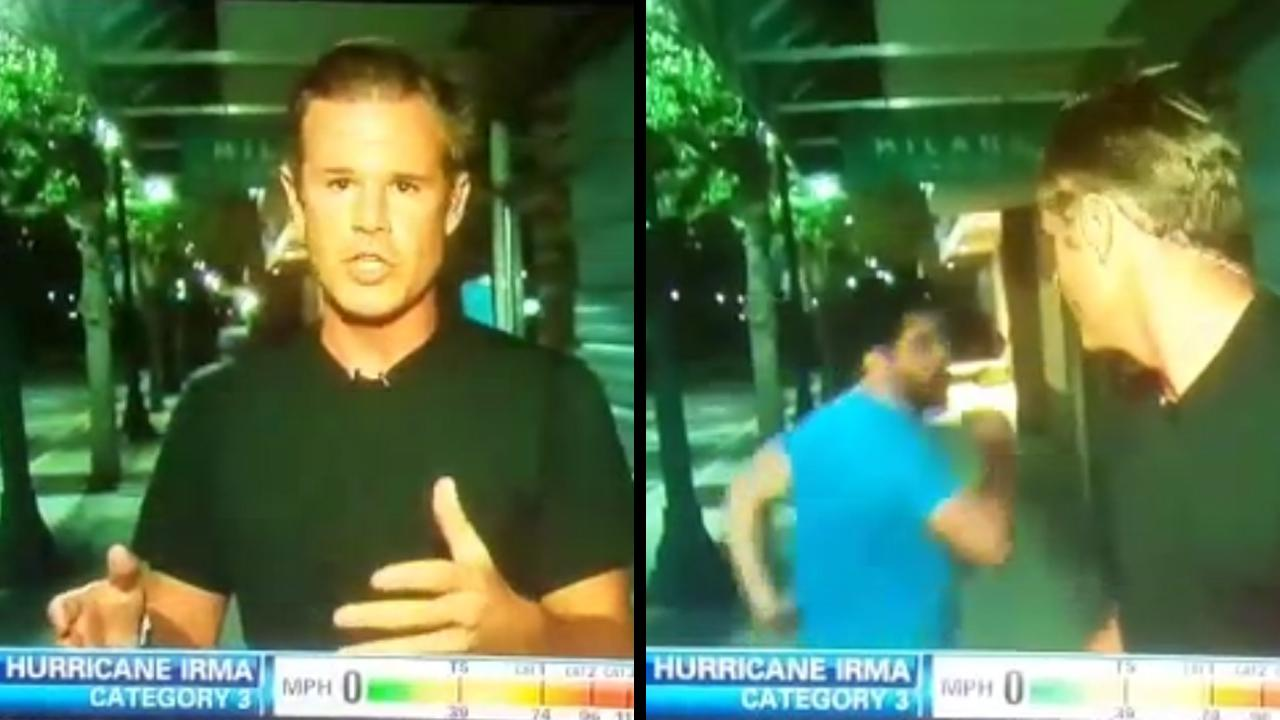 Fhritp! Cnn Reporter Gets Videobombed While Reporting On Hurricane_...