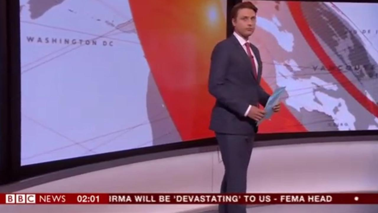 Things Get Awkward When The Bbc Tries To Report On Hurricane Irma