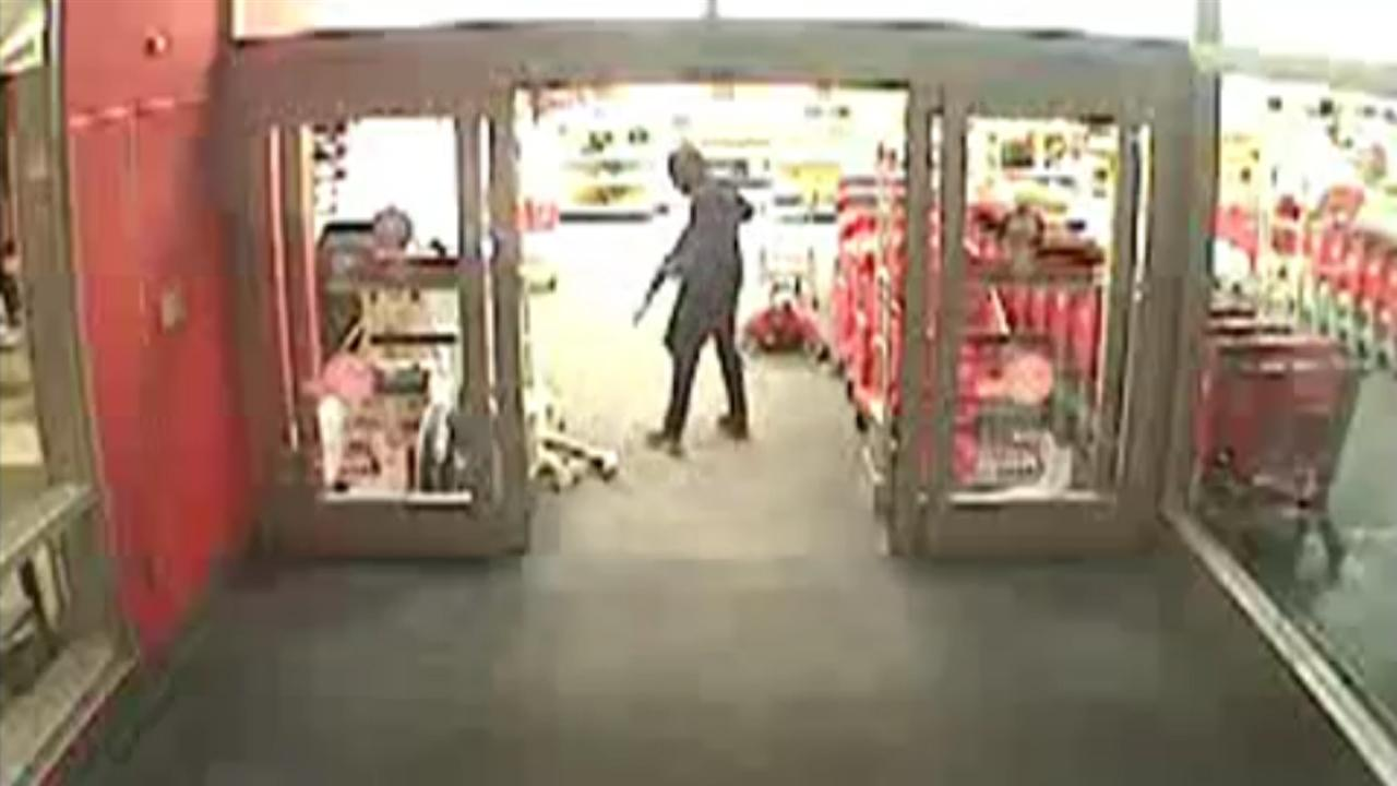 Rifle-Wielding Armed Robbers Storm Into Target To Steal Merchandise