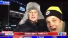 """Steelers!"" Badass Reporter Pushes Obnoxious Fan Who Disrupted Live Broadcast"