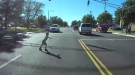 Kid Appears From Nowhere And Nearly Gets Taken Out By Car