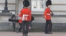 Tourists Watch New Palace Guard Eat Pavement