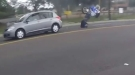 Biker Takes A Wicked Crash Into Versa
