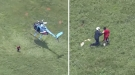 Badass Cop Leaps From Helicopter To Capture Suspect On The Run