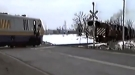 Trains Just Barely Avoid Collision