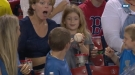 Kid Gives A Foul Ball To Girl Behind Him, Is Smooth As Hell