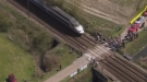 Train Interrupts Paris-Roubaix  Bike Race