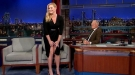 Amy Schumer Lifts Her Skirt For Letterman
