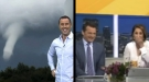 News Anchors Can't Stop Laughing As Weatherman Talks About Water Spout
