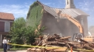 Church Demolition Goes A Little Wonky As The House Next Door Gets Crushed
