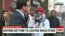 Rioters Caught On Camera Cutting Firehoses