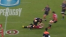 Rugby Player Lays Down A Brutal Hit