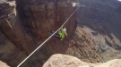 Insane BASE Jumpers Use A Space Net