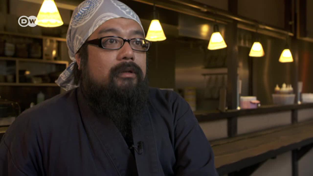 Yosuke Sumida serves up tantan ramen soup