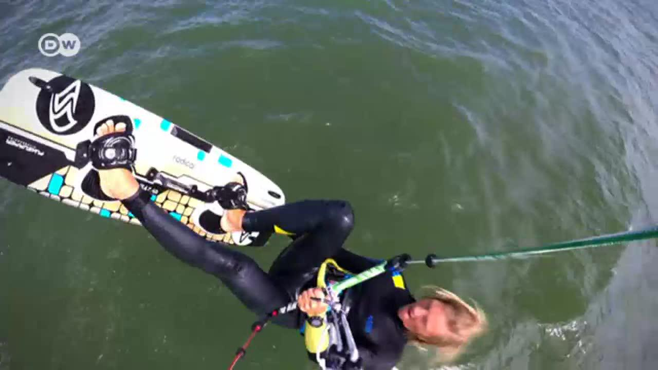 The thrill of kitesurfing