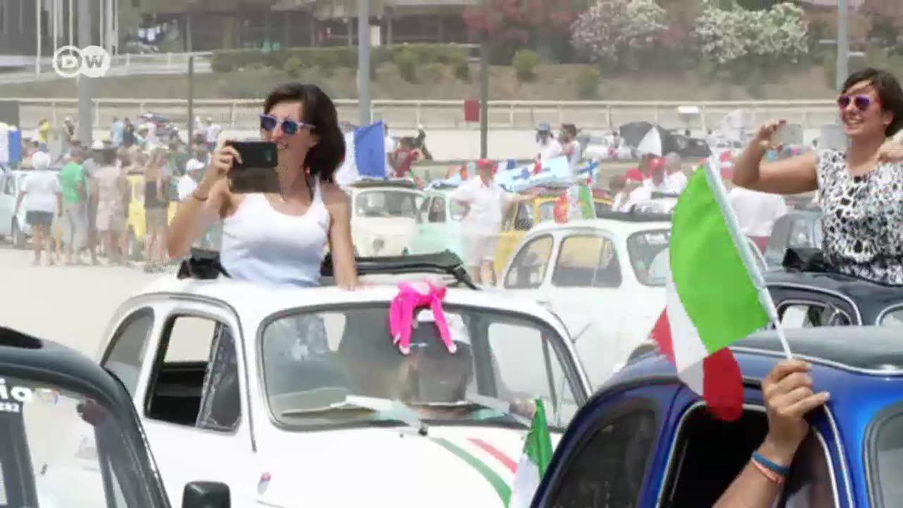 Fiat fans flock to italian riviera