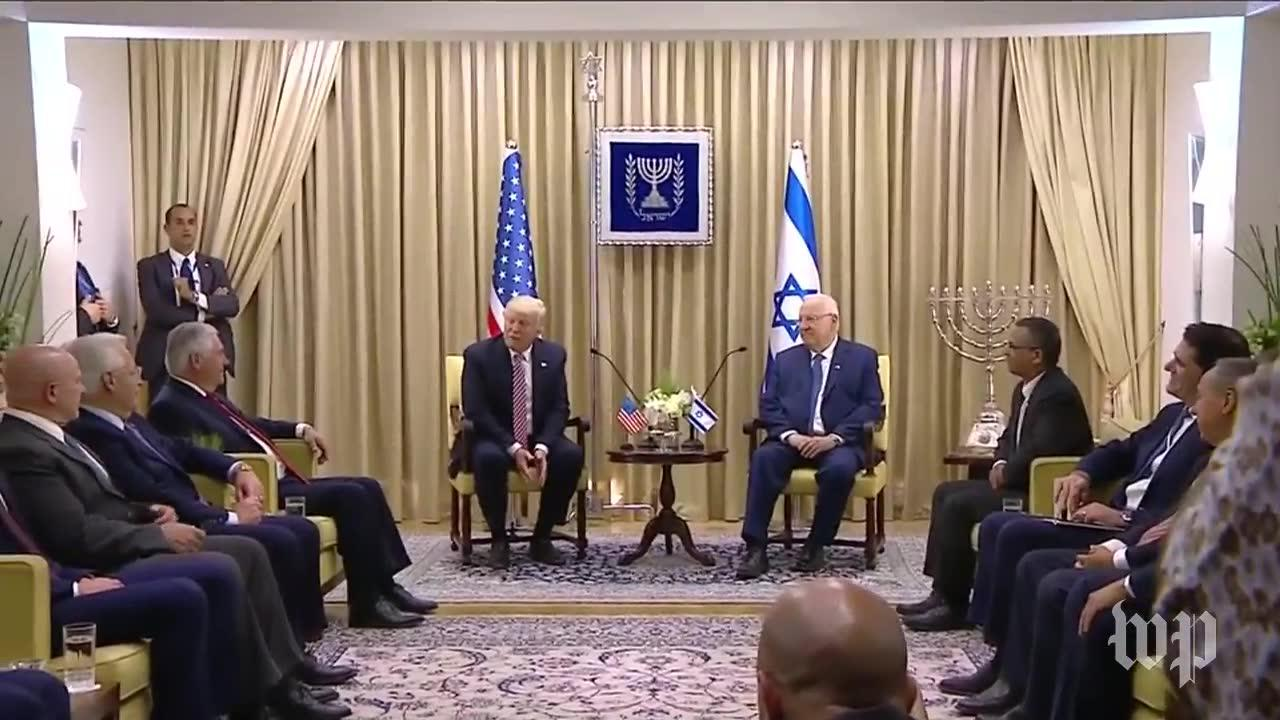 Trump and Rivlin deliver joint remarks in Israel