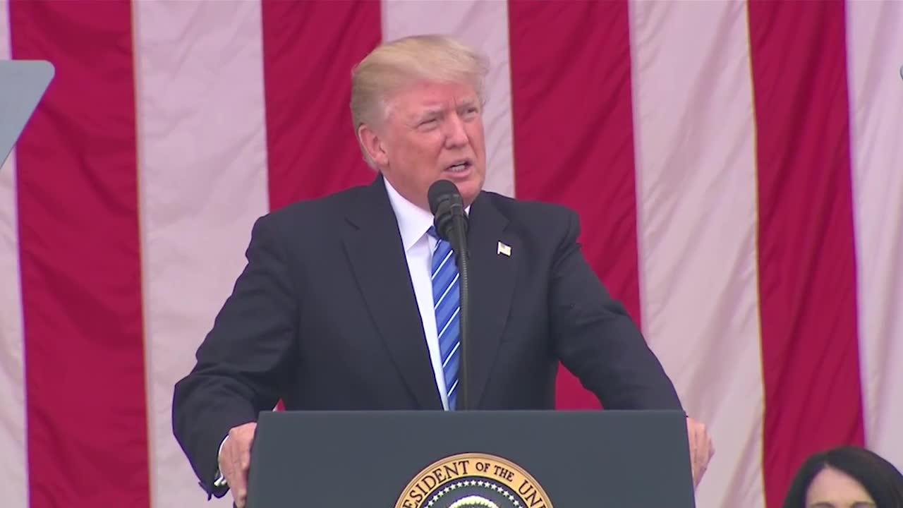 Watch Trump's full Memorial Day speech