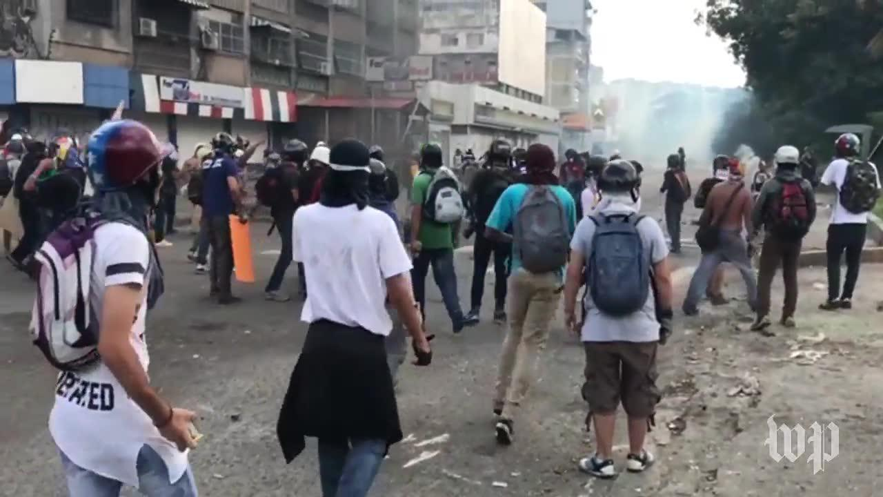 What it's like to be in the middle of the violent protests in Venezuela