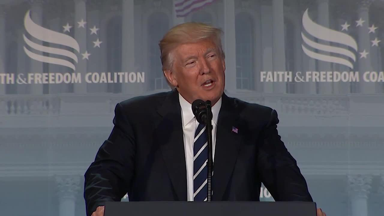 Watch President Trump's full speech at the Faith and Freedom Coalition conference