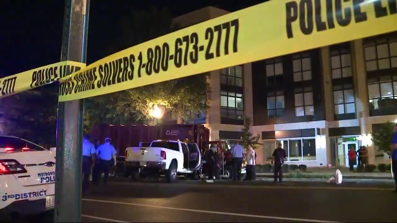 Vehicle hits and injured two D.C. police officers