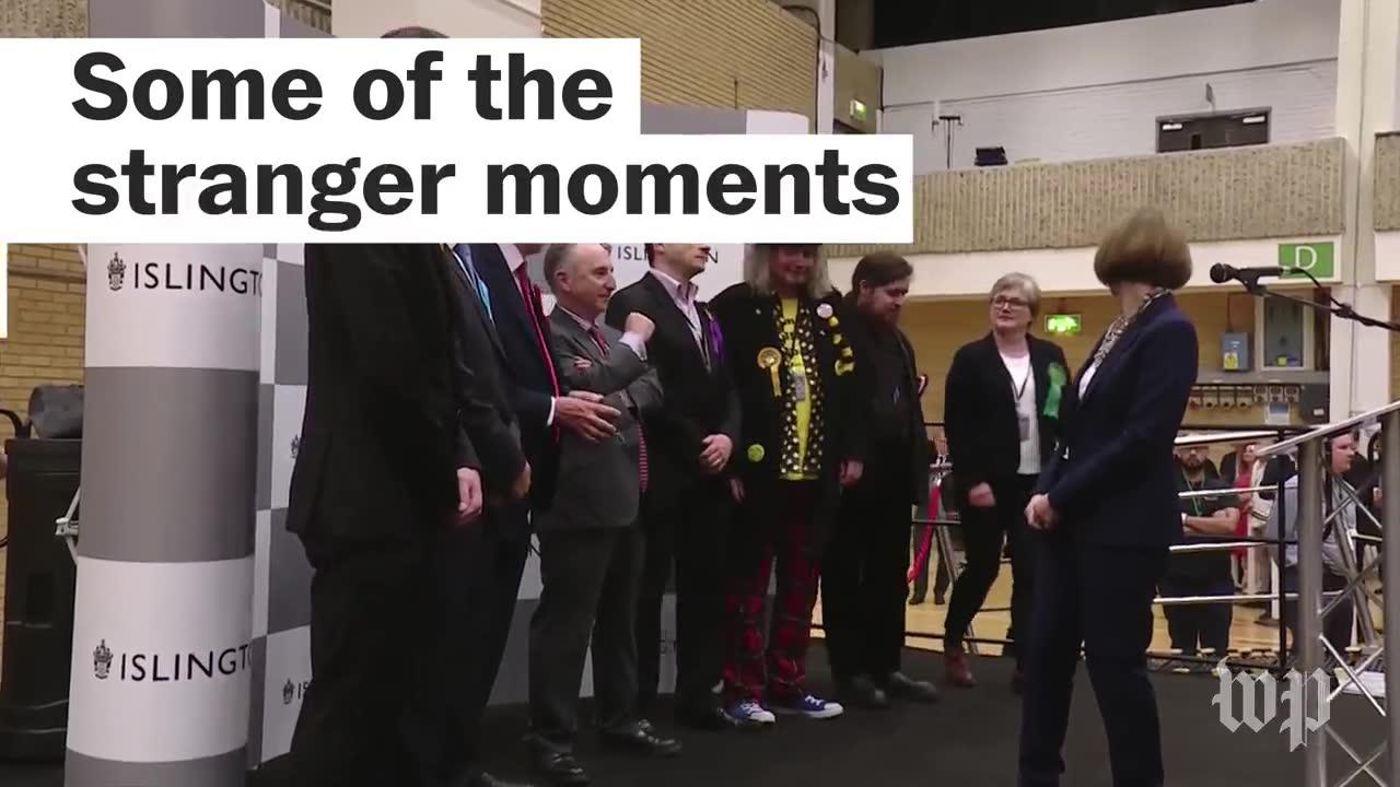 Some of the stranger moments of Britain's snap general election