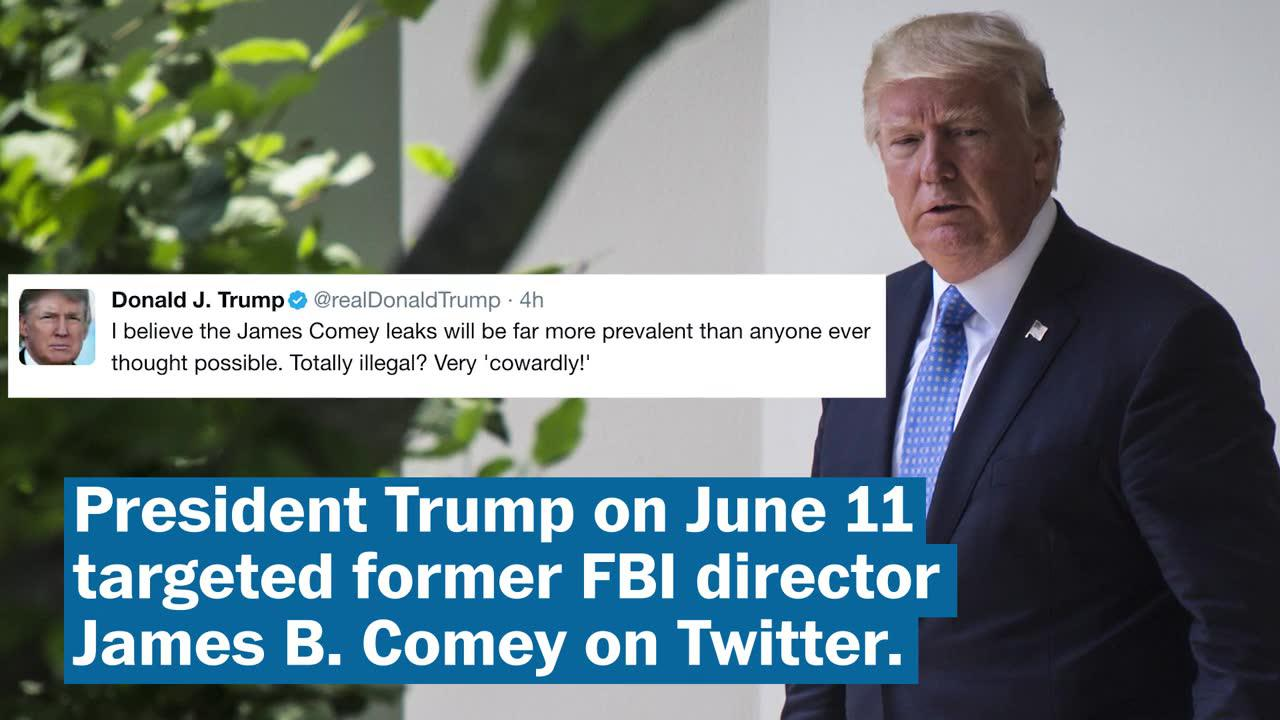 Trump targets Comey on Twitter, senators weigh in