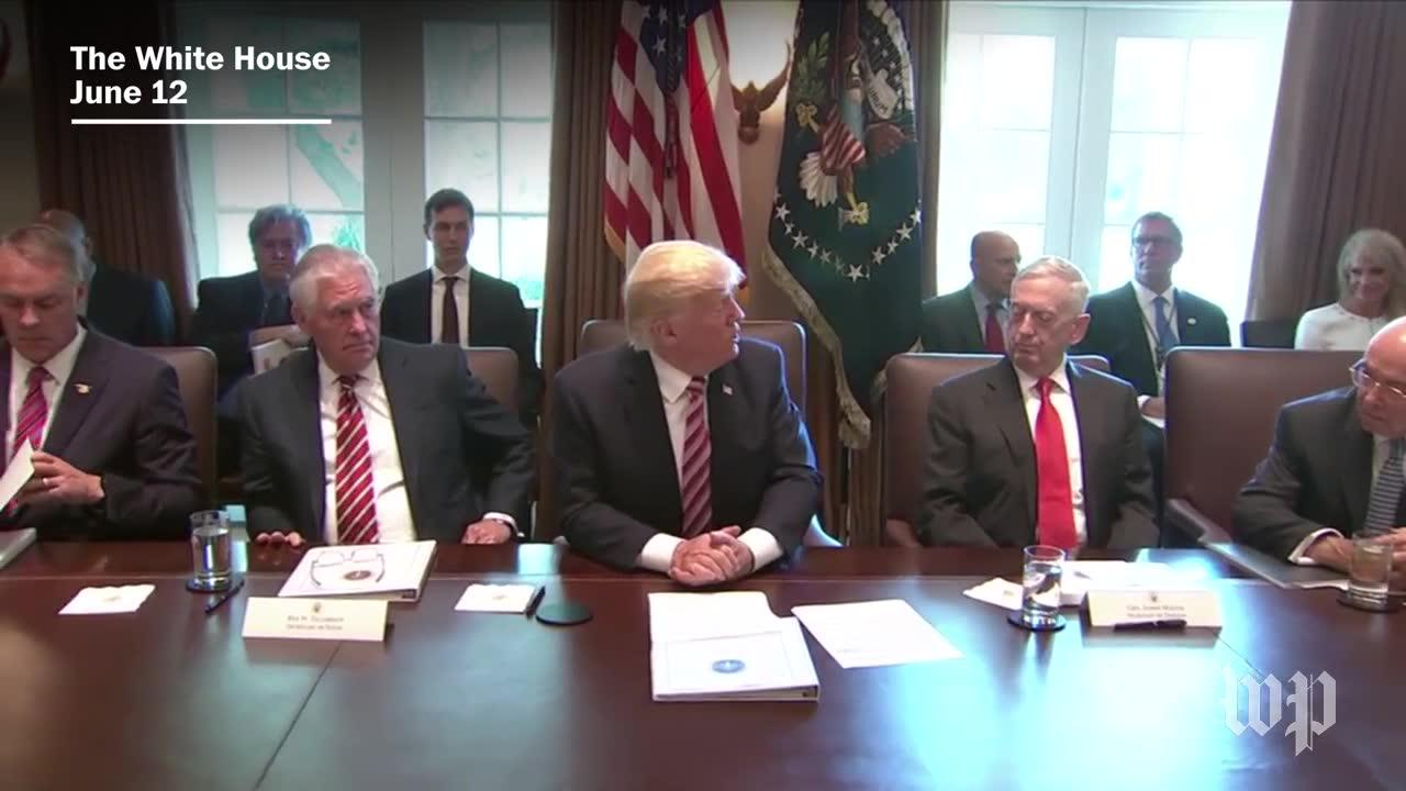 Priebus, Cabinet members praise Trump in first White House meeting