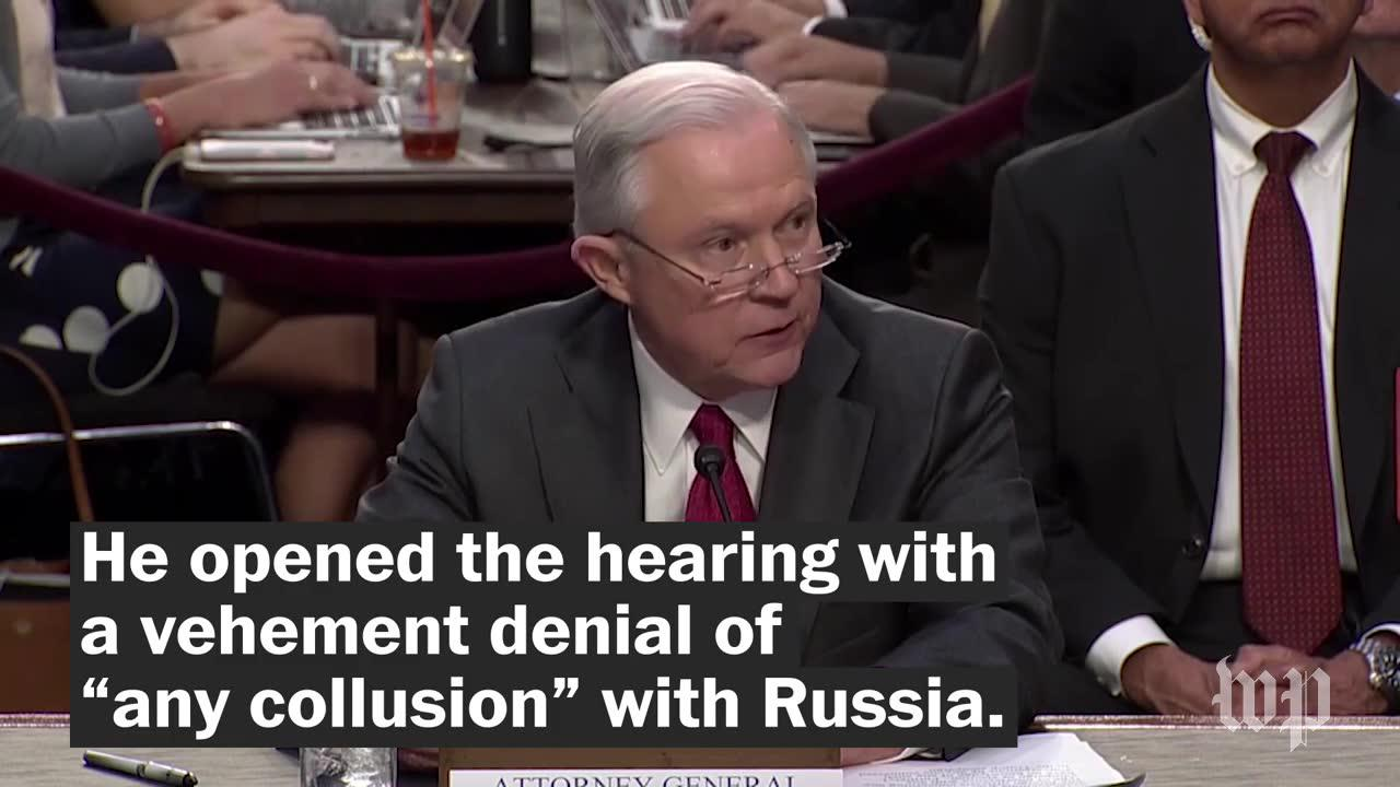 Jeff Sessions's heated testimony, in 3 minutes