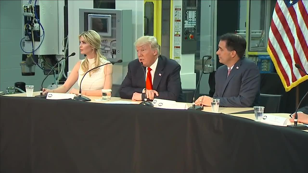 Trump lays out plan for apprenticeships for young people