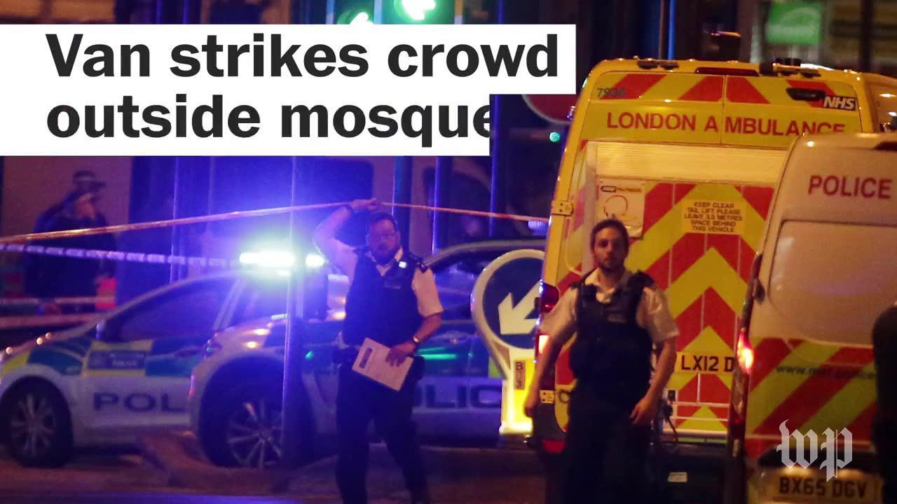 Van strikes crowd outside mosque in London