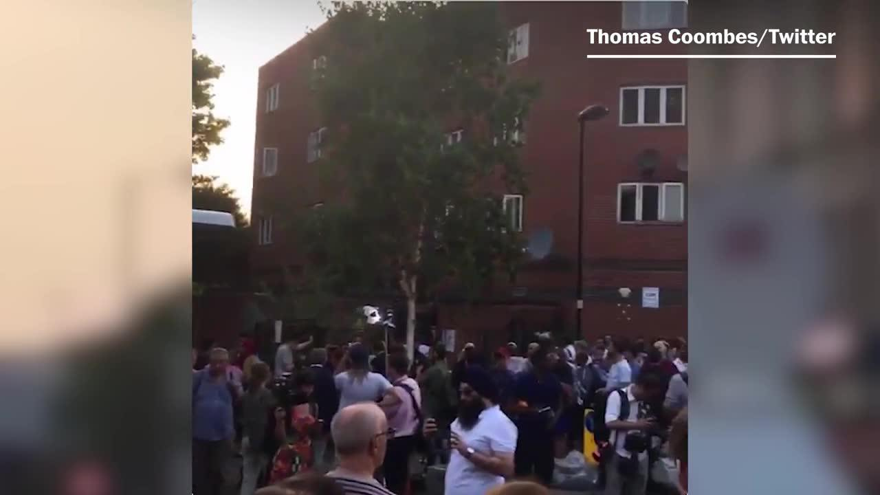 Londoners hold vigil after mosque attack