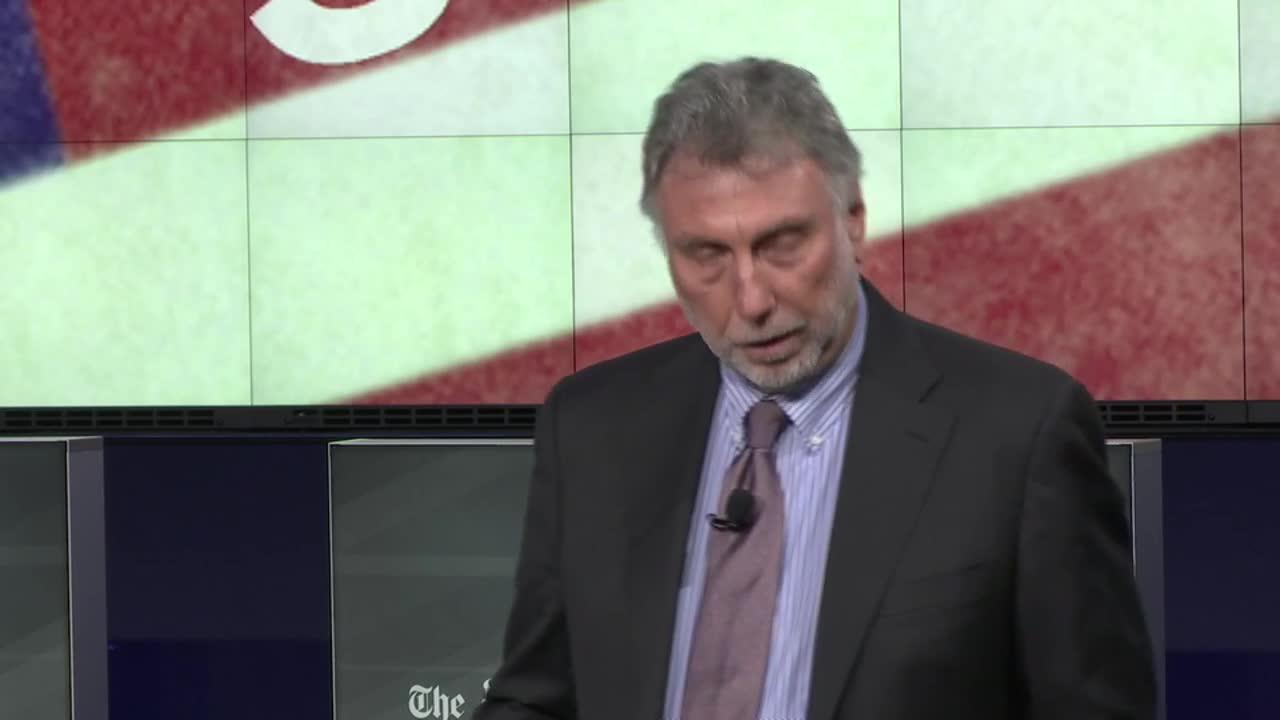 Executive Editor, Martin Baron, delivers opening remarks at The Washington Post