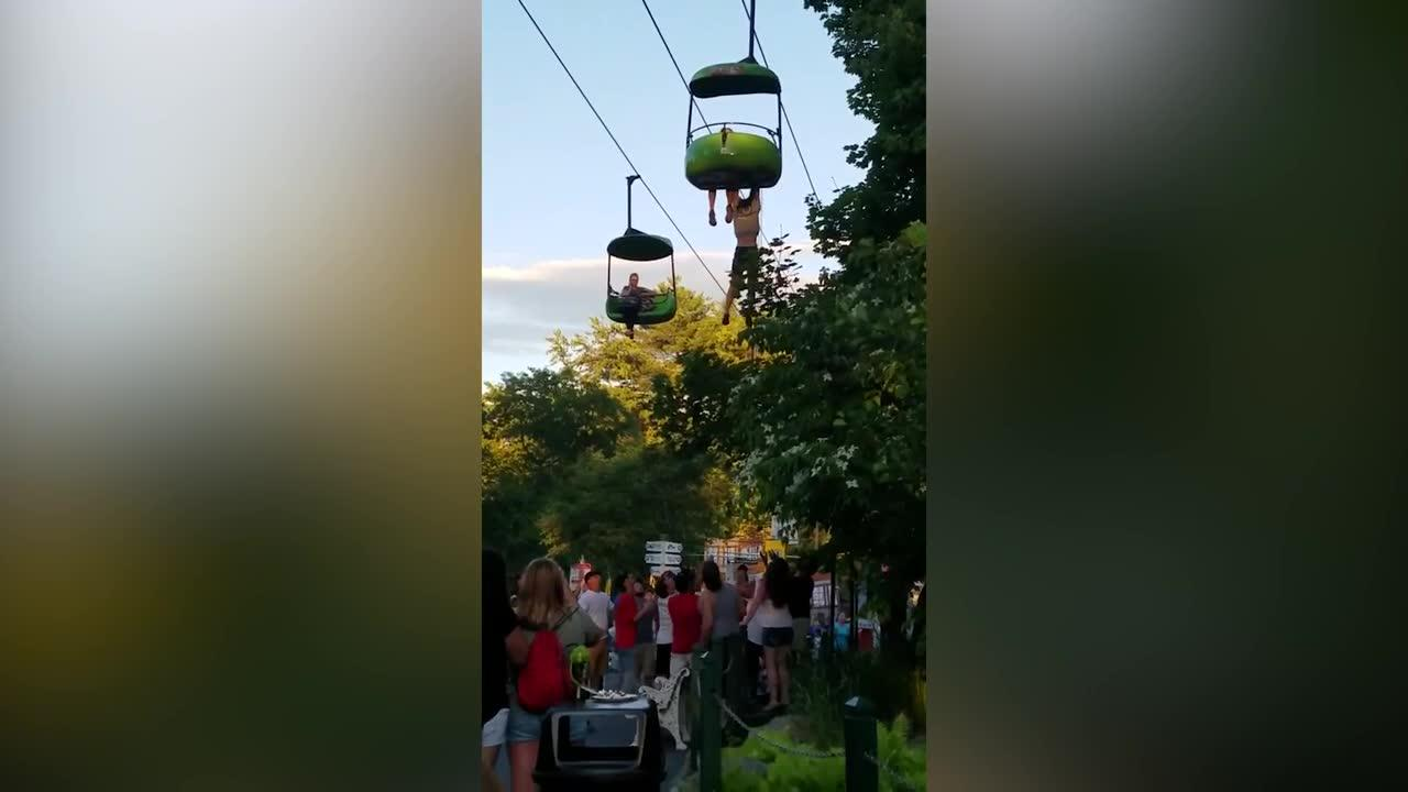 Teen girl falls from Six Flags ride