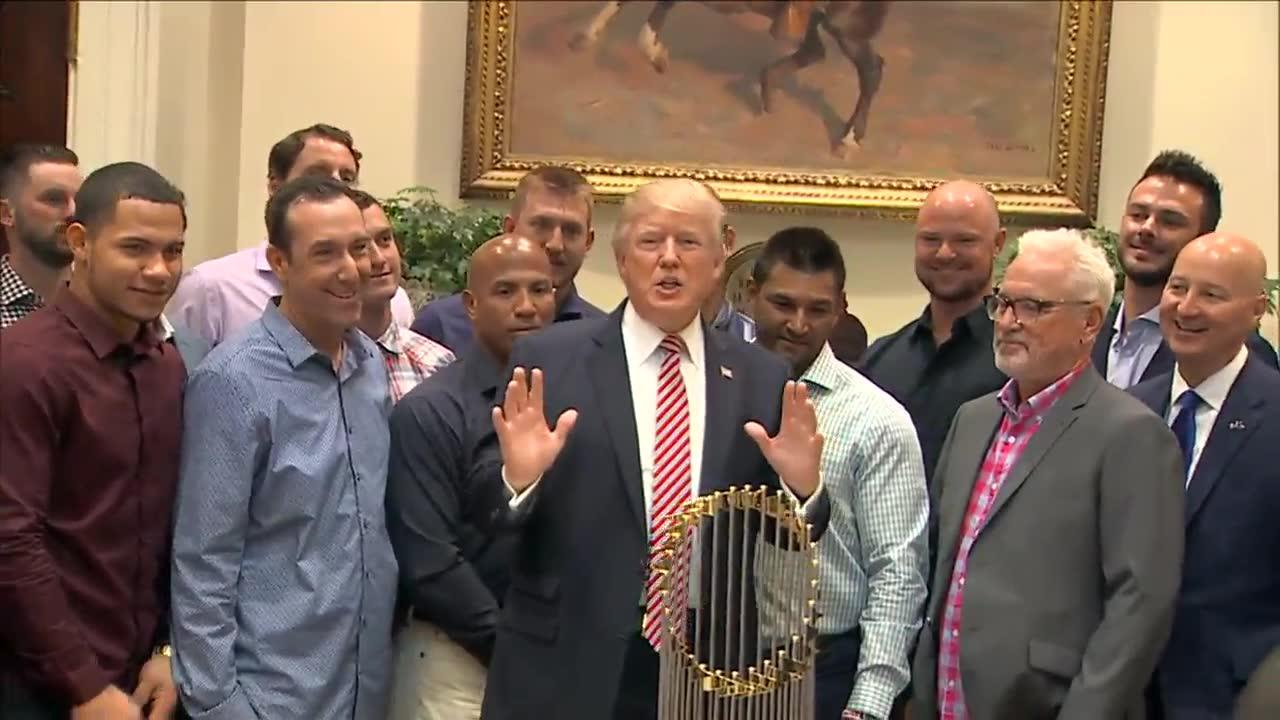 Trump hosts Chicago Cubs at the White House