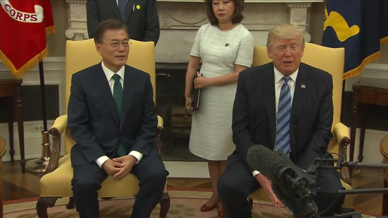 Trump says U.S. relationship with South Korea is 'very good'