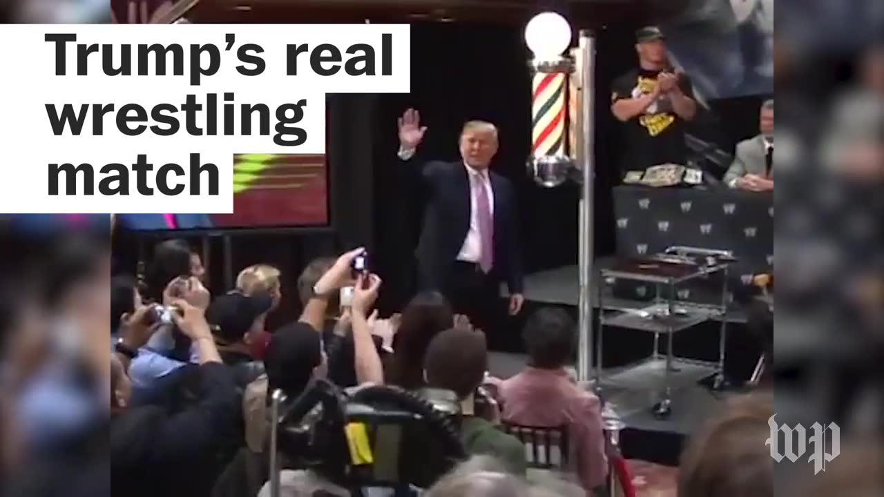Trump's real wrestling match